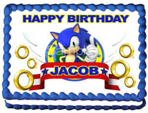 Sonic The Hedgehog Edible Cake Topper Image Party Icing Decoration