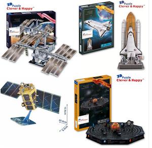 3D puzzle DIY toy paper solar system space station satellite model kompsat-2 1pc