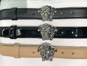 2bdff078a0 Versace Palladium Medusa Buckle Leather Belt • 1.2