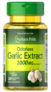 Puritan-039-s-Pride-Odorless-Garlic-1000-mg-100-RR-Softgels-free-shipping
