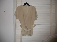 Sale: Wolford Austria ~Art to Wear~Lagenlook Silk Beige Twinset Sweater Set ~ M
