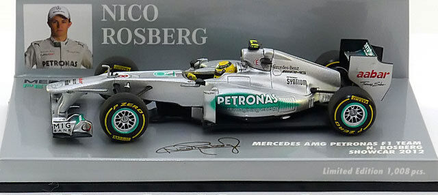 Minichamps Mercedes GP F1 Team Showcar 2012 - Nico Rosberg 1 43 Scale