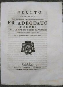 1791-ADEODATO-TURCHI-FRANCESCANO-INDULTO-AI-PARMENSI-SU-MANGIARE-UOVA-E-LATTE