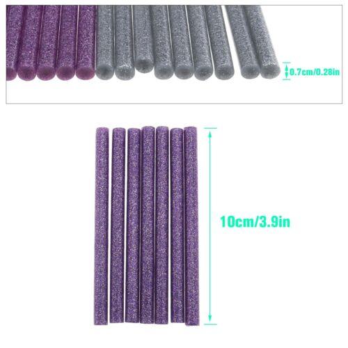 150X 15-farbiger Gemischter Hot Melt-Stick Heißklebestifte 10x0,7cm Bunt Glitzer