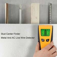 New wall stud center finder metal live wire detector copper cable led display UK