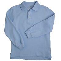 French Toast Polo Shirt Light Blue Navy Blue 10 - 20 Husky Lg Sleeve Uniform