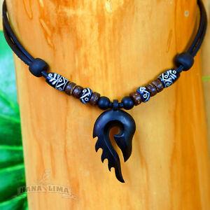 Handgefertigte-Surferkette-Halskette-Lederkette-Tribal-Kette-Goa-Hawaii-Ibiza