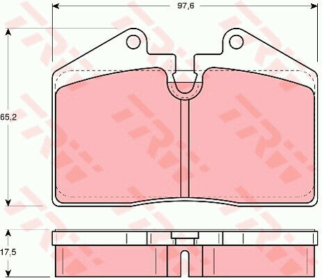 PORSCHE 928 S4 5.0 Brake Pads Set Rear 86 to 91 TRW 96535293900 95135193903 New