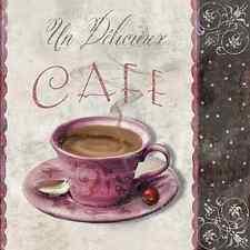 20 TOVAGLIOLI di Carta Caffè riunione Decorazione Vintage Cucina Tazza DECOUPAGE 33X33CM