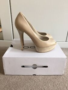 Aldo Sparkling Nude In Box Heel Brand High Size Diamonte Shoes 6 New wnf6q4qXx1