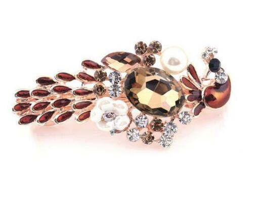 High-end Hairpin Alloy Diamante Peafowl Hairpin Wedding Bride Lady Hairpin