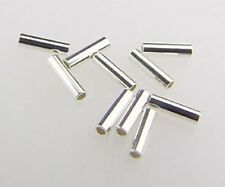 925 Solid STERLING SILVER Spacer Tubes 1x3.3mm 100pcs  #5601-3