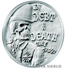 2017 1 oz SILVER SHIELD Half Proof Debt and Death V3