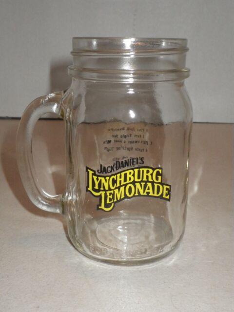 2x Jack Daniels Lynchburg Lemonade Glasses with Lid and Recipe