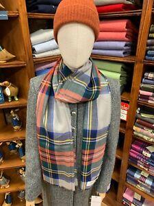 100% Pure New Wool Pashmina | Lochcarron | Made in Scotland | Stewart Dress Grey