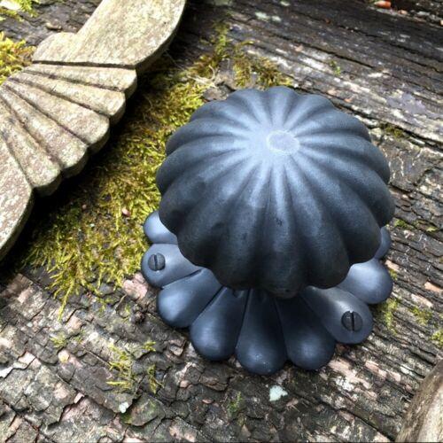 poignée-Poignée Antique ancien-fer stossknauf Socle poignée avec rosette