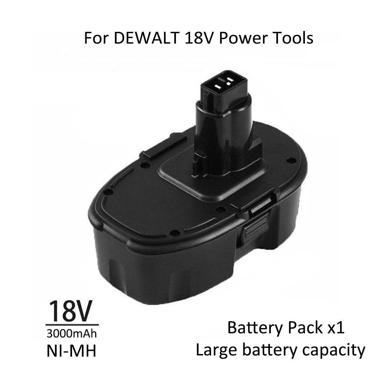 Ni-MH 3.0Ah Battery For DEWALT 18V Power Tools DC9096-2 DW9095 DE9095 DC9099 US