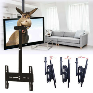 led tv deckenhalterung f r 32 63 fernseher decken halter halterung neingbar em ebay. Black Bedroom Furniture Sets. Home Design Ideas