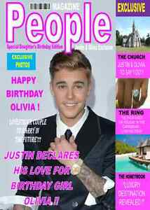 Image Is Loading JUSTIN BIEBER MAGAZINE STYLE A5 Personalised Birthday Card