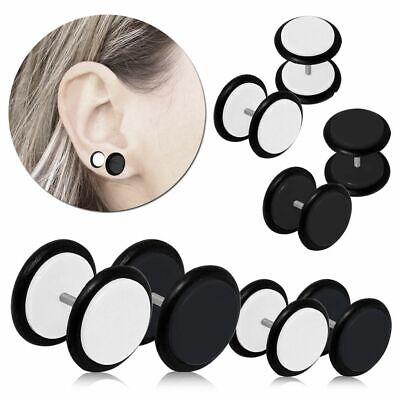 tumundo 2 Faux Fake-Plug Tunnel Ecarteur en B/âton en Spirale Piercing Taper Boucle dOreille 4mm Goujon Acrylique