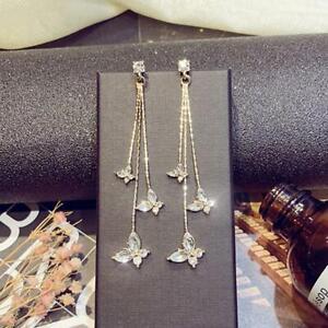 Fashion-Tassel-Butterfly-Crystal-Ear-Stud-Long-Drop-Dangle-Earrings-JA
