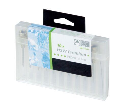 10x HSW-PREMIUM® Kanülen 1,6 x 20mm mit Gewindeansatz wiederverwendbar