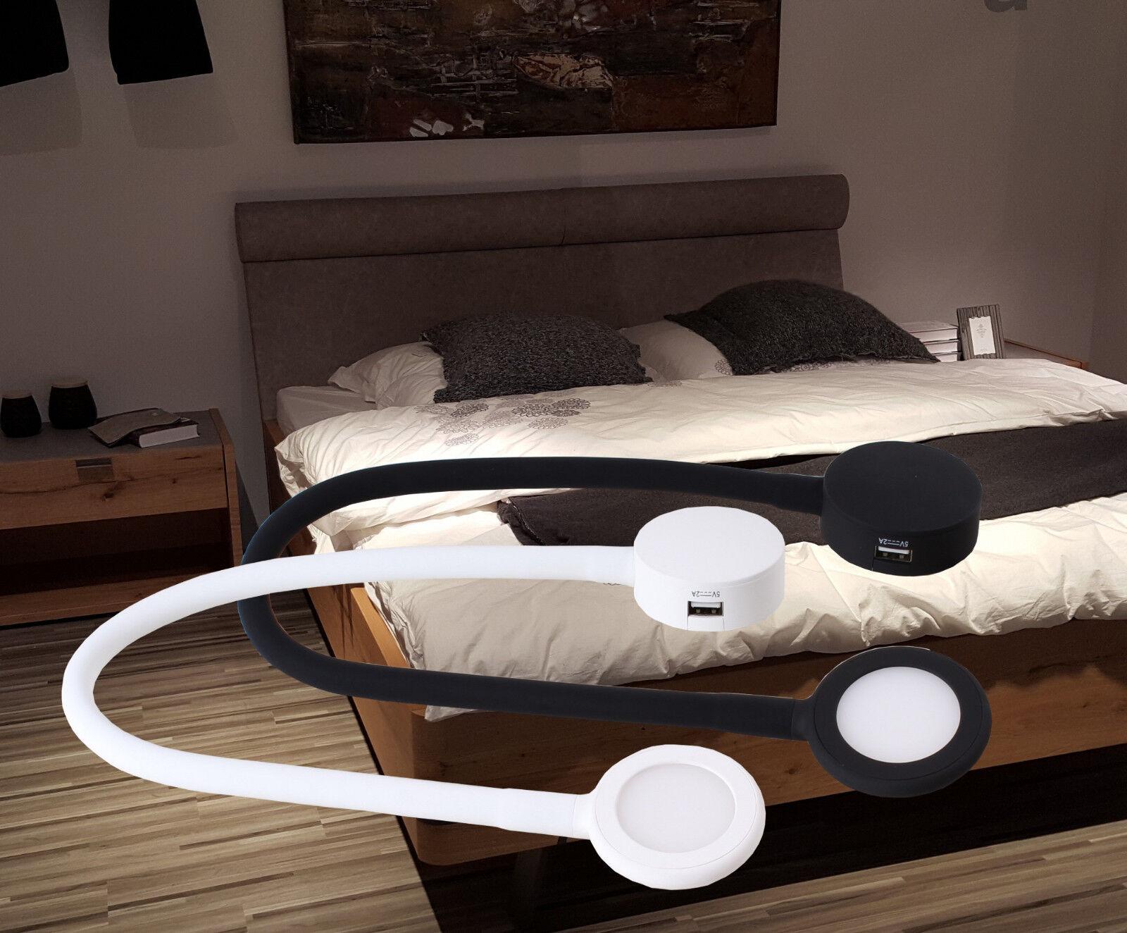 LED Bettlampen Set Bettleuchte Touch dimmbar weiß schwarz Leseleuchte  4203-04