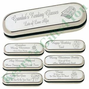 2808603fc2a Image is loading Personalised-Engraved-Glasses-Spectacle-Case-Christmas-Gift -Grandma-
