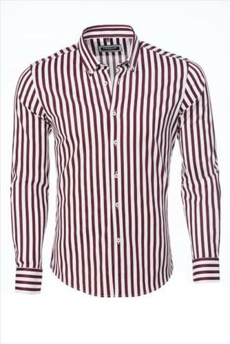 Carisma Hemd weiß Streifen in rot