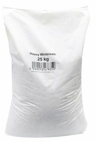 0,36€//1kg Happy-Wintersalz Splitt-Salzgemisch 25kg Glatteis Streusalz Salz