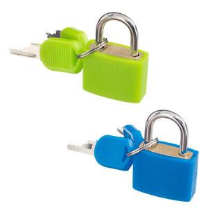 2Pcs Piccolo Lucchetto Con Chiavi Per Valigia Bagaglio Verde / Blu