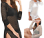 Choice-2-Colours-Sexy-Beach-Bikini-Crochet-Style-Mesh-Dress-Cover-Up-Size-8-12