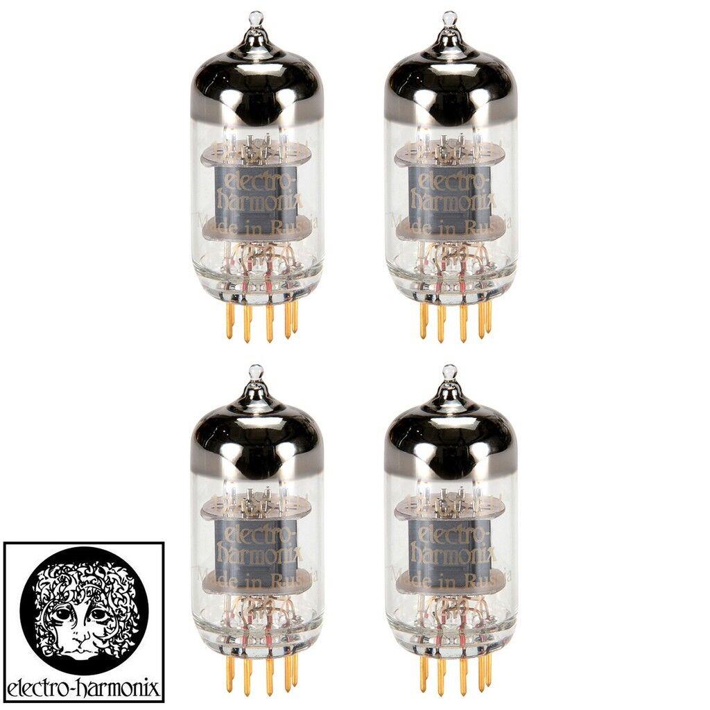 New Electro-Harmonix 12AX7 ECC83 gold PINS Gain Matched Quad (4) Vacuum Tubes
