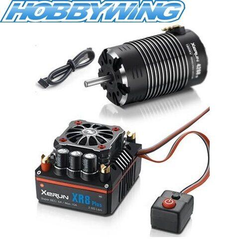 Hobbywing Xerun XR8 18 ESC with G2 4268SD 1900KV 4 Pole Motor Combo (2S-6S)