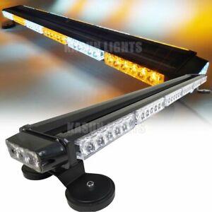 40 LED Traffic Advisor Light Bar Emergency Vehicle Flash Strobe Lamp AMBER/&WHITE