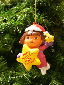 KURT S ADLER DORA THE EXPLORER CHRISTMAS TREE ORNAMENT HOLIDAY