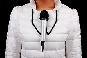 A011-Close-Up-Magic-Stage-Prop-Microphone-Hands-Free-Brace-Mic-Holder-Neck-Stand