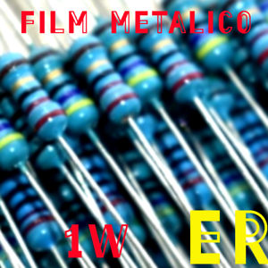 1MΩ 1W resistencia film metalico 1/%  X10 unidades x10