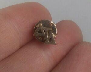 Vintage DELTA TAU DELTA Fraternity pin pinback button *EE91