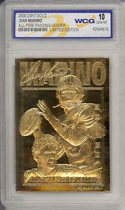 2000-DAN-MARINO-Miami-Dolphins-23K-GOLD-CARD-GEM-MINT-10-Lot-of-5