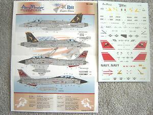 2 F AEROMASTER 1 HORNET 31 115 72 USN 14D VF 18E VFA A ARABS DECALS TOMCAT XqXCHB