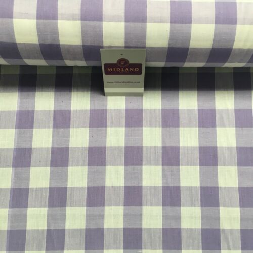 1 inch Gingham check poly cotton fabric material M31 Mtex