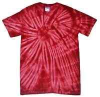Tie Dye T-shirts Burgundy Spider Adult S M L Xl 2xl 3xl Cotton Colortone-gildan