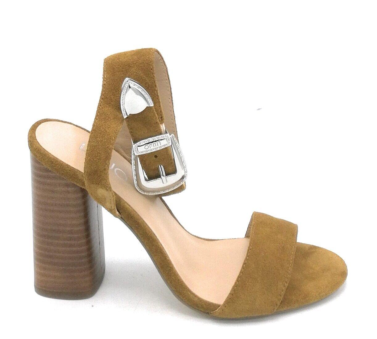 Liu Jo S19101 sandalo camoscio cammello cinturino fibbia tacco quadro 9 cm