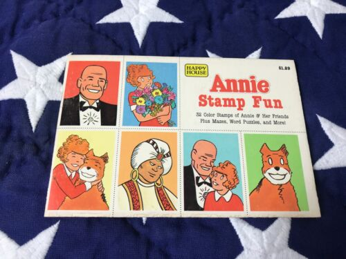 Vintage 1982 Happy House Little Orphan Annie Stamp Fun Book with Stamps
