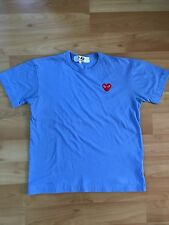 Comme Des Garcons Play Colour Series T-Shirt Red Heart, Blue, Large, Authentic