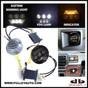 DBMOTOR 2015-2016 Sierra 2500/3500 LED Fog Lamp with Daytime Running & Indicator