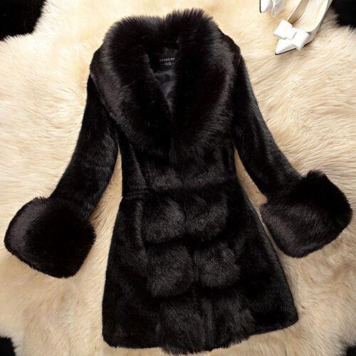 Fashion Womens Lady Luxury Fur Coat Hot Long Parkas Outwear Warm Winter Jackets