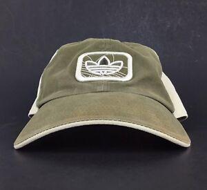 ed89e11d244 Adidas Trefoil Logo Olive Green (Faded) Baseball Cap Hat Adj Men s ...