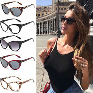 141cb1079133 Image is loading Women-Fashion-Oversized-Sunglasses-Cat-Eye-Flat-UV400-
